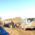 Steve being helped out at Akeley