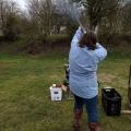 Jennifer breaking a clay - 19th Feb